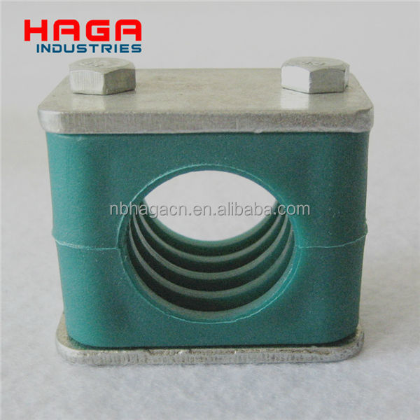 Aluminum and Plastic Light Heavy Twin Hydraulic pipe clamp