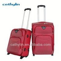Hot selling trolley luggage closeout luggage set