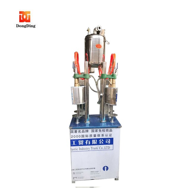 Semi-automatic soda water mixing and filling machine have low cost