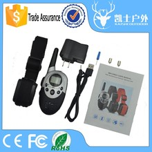 Producer remote pet electronic dog training collar, dog beeper collar with LCD digital display