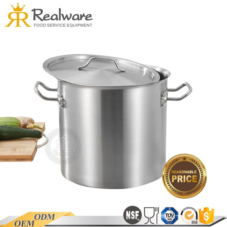 Realware cooking enamel stock pot canteen stainless steel antique stock pot