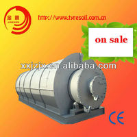 high oil output waste tire pyrolysis plant to fuel oil and carbon black