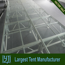 Luxury concert event acrylic stage ,lighting transparent stage for wedding party