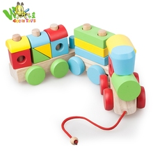 Early educational toy wooden vehicle pattern toy wooden peg puzzle for children