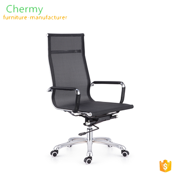 High back black mesh office chair with wheels