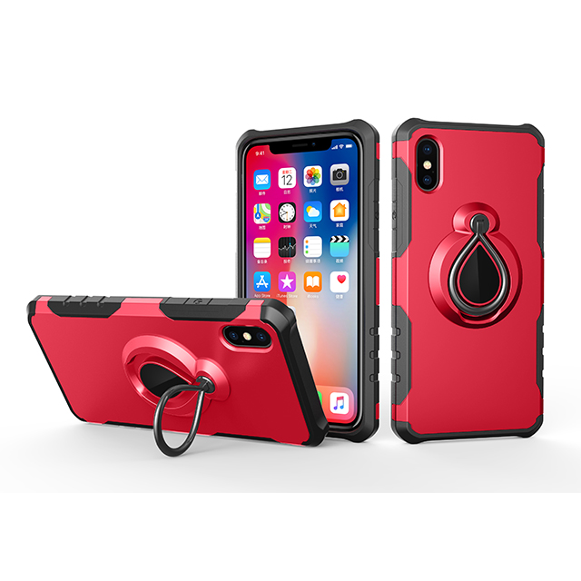 Ultra Thin Shockproof <strong>Phone</strong> Case for iPhone X Case with Magnetic Car Holder <strong>Phone</strong> Ringer Holder 360 Degree Rotation