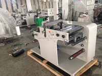 High speed Adhesive Label roll rotary die-cutter machine with slitting machine