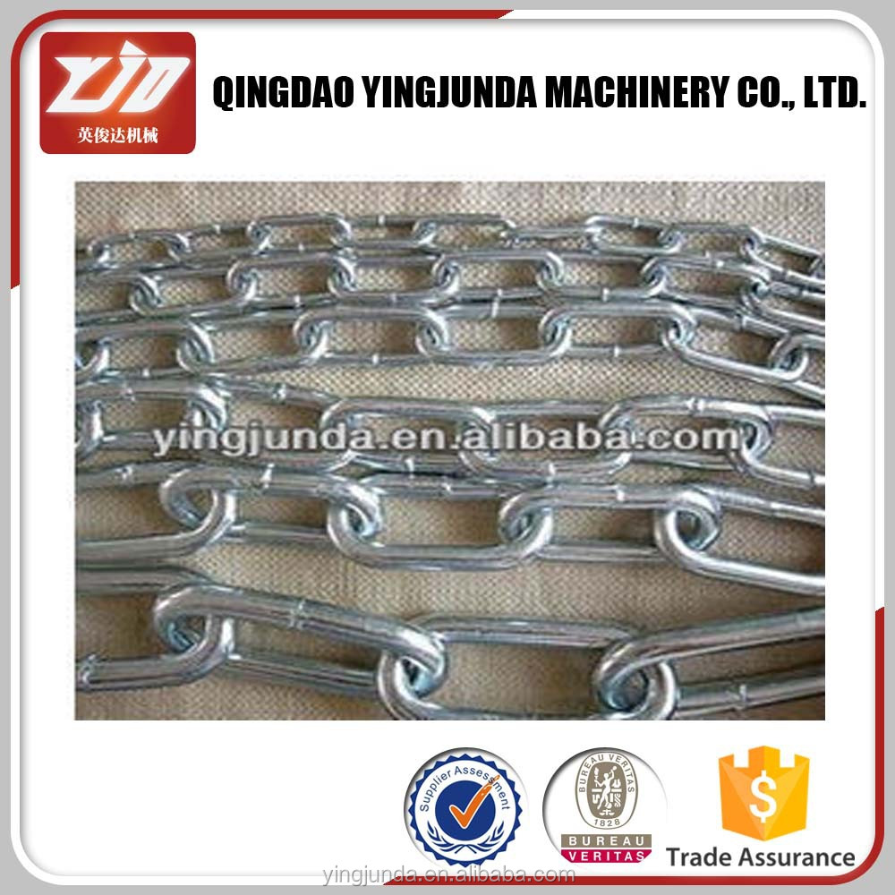 standard link chain high test chain ASTM80 G43 galvanized steel link chain seller