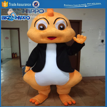 Yelow dragon dinosaur kid high quality custom mascot costume