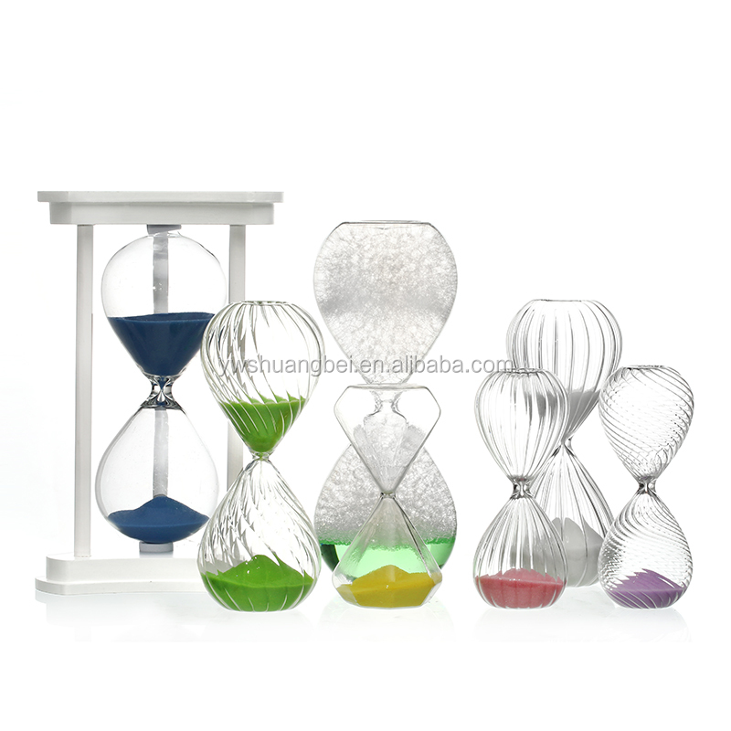 Custom Sand Timer, Desktop Decorations Colored Glass Hourglass