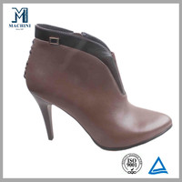 Side zipper sexy women high heel ankle boots made in Chengdu