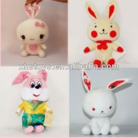 OEM fashion design plush rabbit,cute rabbit plush keychain