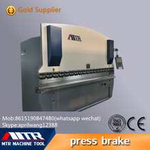 manual aluminum folding plate metal bender machine WC67Y-125/3200