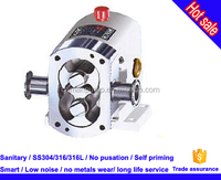 stainless steel cam rotary lobe pump for high viscosity beer