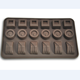 FDA LFGB non stick high quality 18 cavity silicone chocolate moulds chocolate praline mould fondant silicone mould
