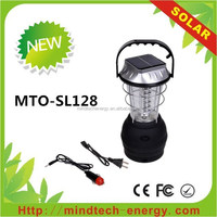 36 led outdoor plastic rechargeable led solar power camping lantern