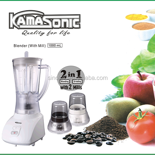 kamasonic household appliances Kitchen appliances cooking 3 IN 1 BLENDER WITH two GRINDER MILLs South Africa standard