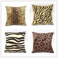 New Style Decorative Throw Pillow Case Velour Velvet Animal Wool Tiger Leopard Print Sofa Cushion Cover HT-PVPC-01-04