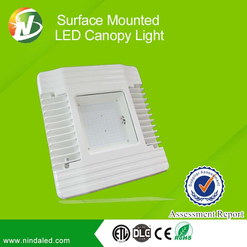 Outdoor Dimmable Waterproof DLC 100W Retrofit LED Recessed Canopy Light