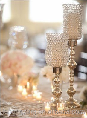 C53 crystal candle holders for wedding and party table decoration