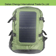 High quality hiking chargeable polyester backpack with solar panel