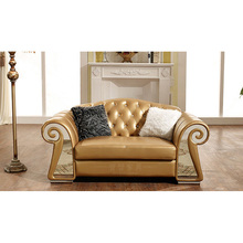 italian double seats leather sofa set living room <strong>furniture</strong>