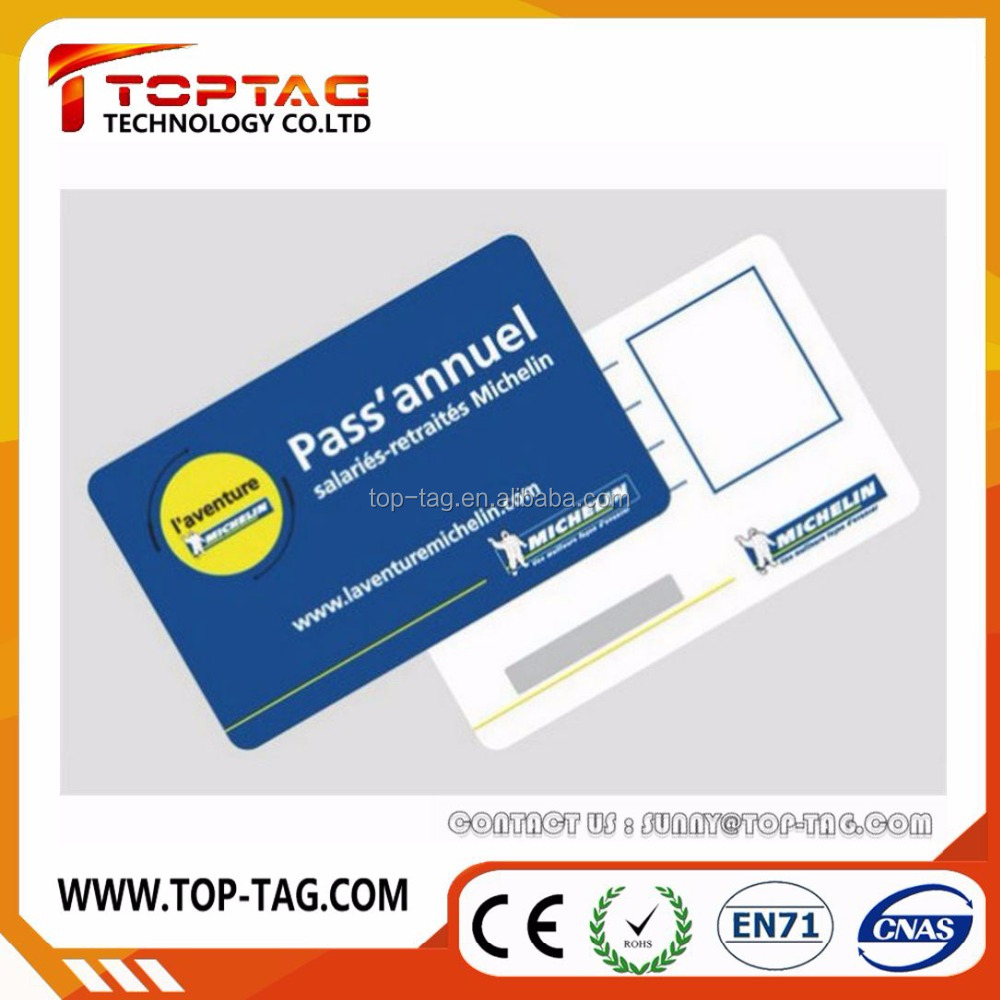 Paper / PVC card with signiture panel , magnetic stripe , QR code , barcode