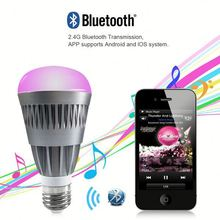 led 2g11 tube ,H0T062 smart home led lighting mobile phone control , led light speaker bulb