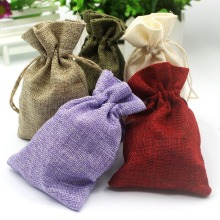 Small Natural Jute Drawstring Pouch Burlap Wedding Favor Gift Bags