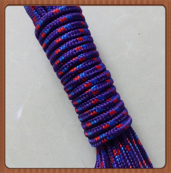 2017 Hot selling custom colorful climbing diamond braided nylon rope
