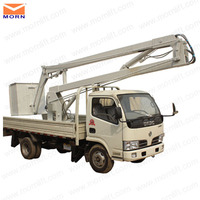 10m Truck mounted articulated boom lift by single man for maintain