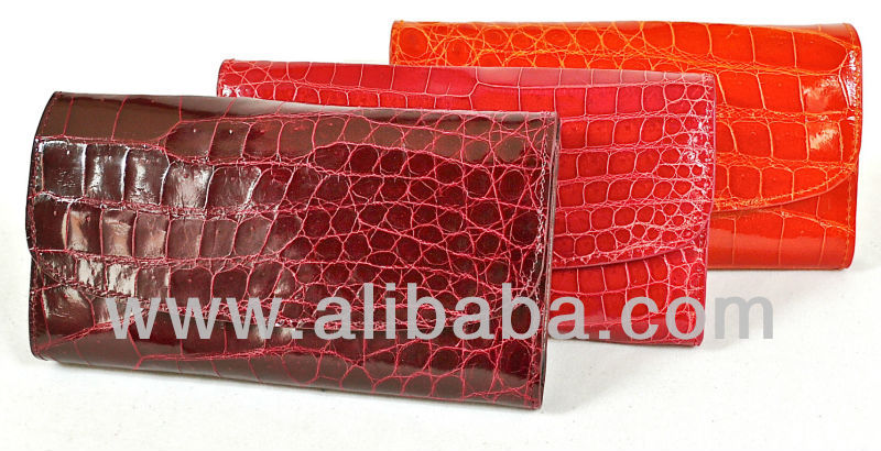 DIANNE - 100% Handmade Genuine Exotic Leather Crocodile Skin Women Designer Wallet