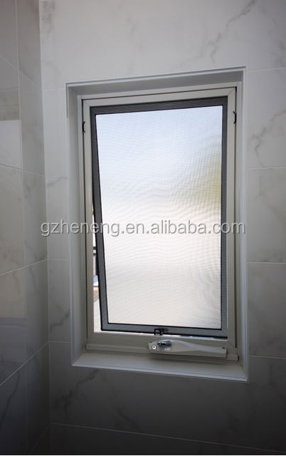 superior quality toughened glass aluminium awning window with mosquito net