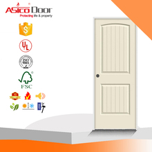 Alibaba China Market Molded Smooth 2-Panel Arch Plank Primed White Solid Core Composite Single Prehung Interior Door Slab