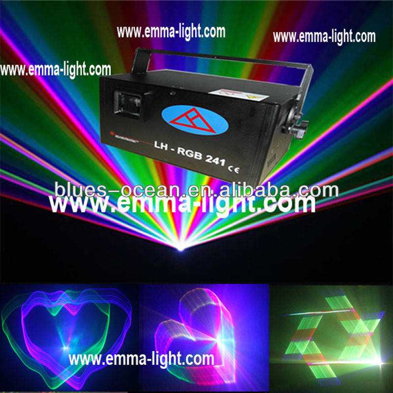 3W stage rgb discolaser light dmx512 programmable 3d laser game show systems