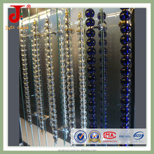 Glass Aluminium Door Handle with long crystal glass ball for Entrance big door and gate