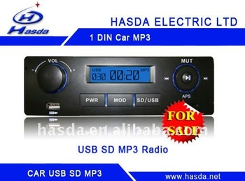 H-7882 one Din car MP3,radio,audio player with usb sd