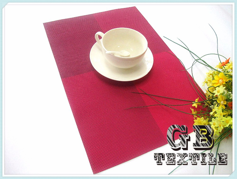red coasters and placemats for child
