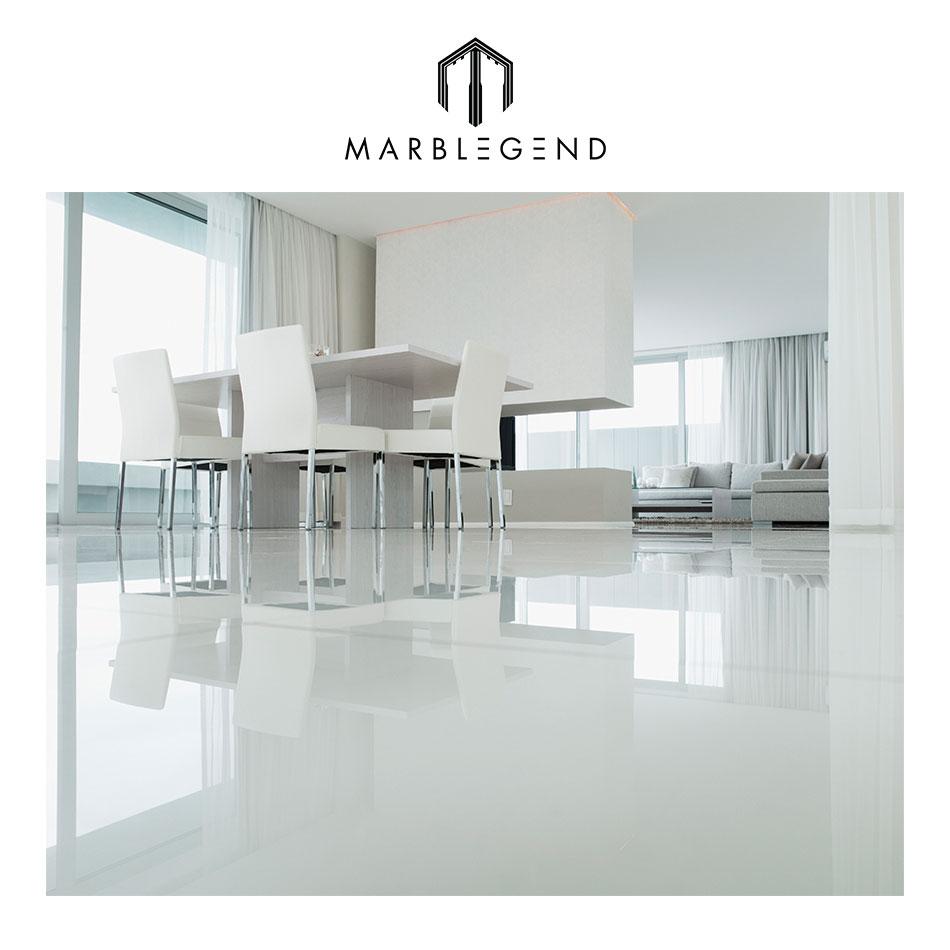 fashion house interior design crystal white nano glass floor tiles