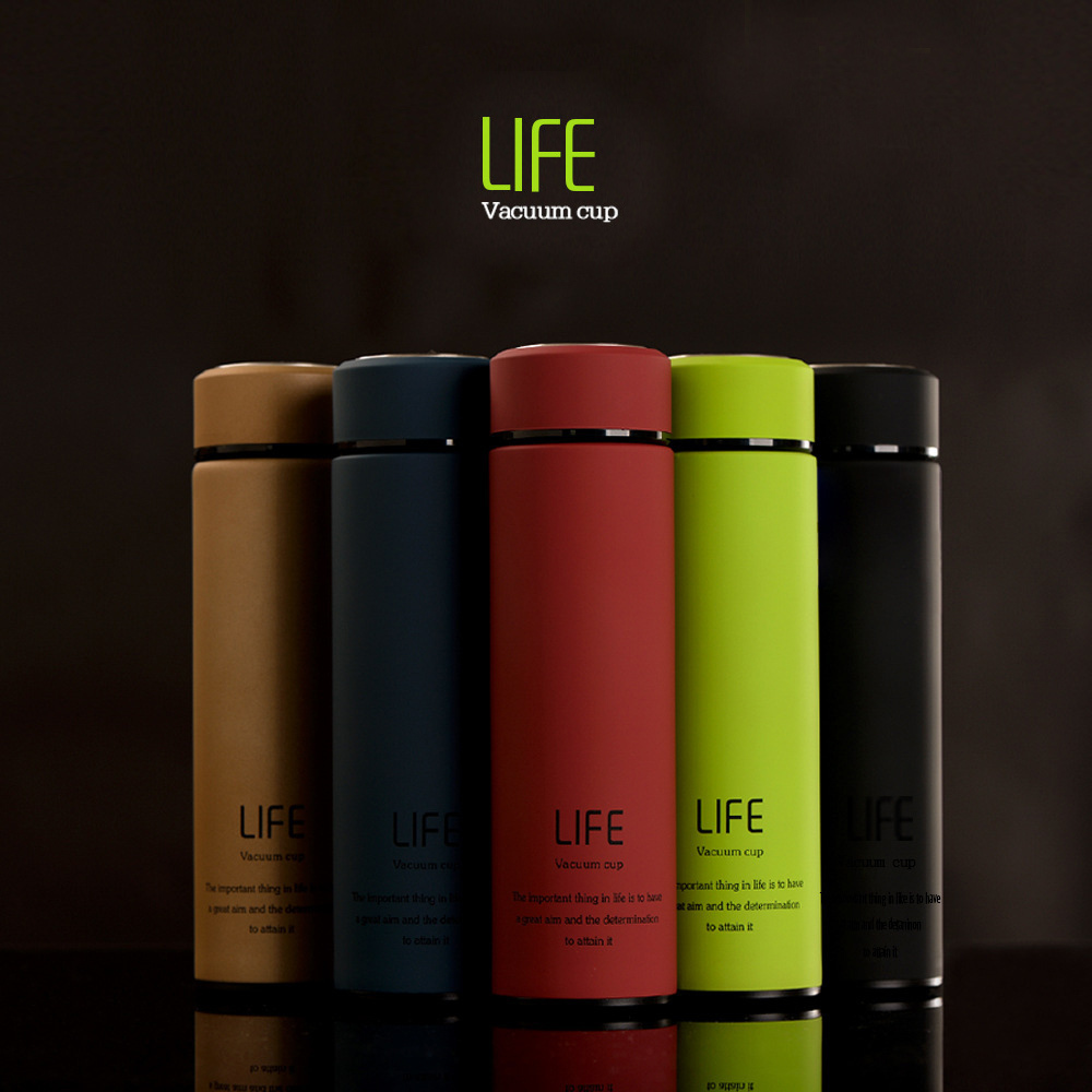 Custom Logo 16oz double wall stainless steel tumbler sport water bottle BPA free vacuum flask thermos bottle