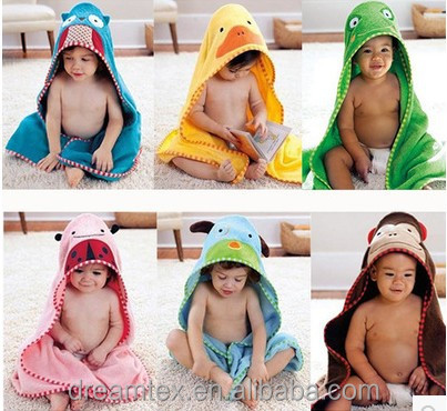 Baby hooded bath towels cartoon cute cotton towel