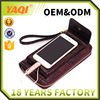 New cell phone pu charging wallet solar panel with battery