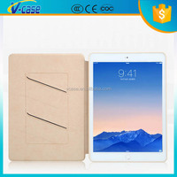 Silm silk luxury gold high quality pu leather case for ipad