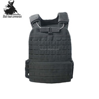 Quick Released Bulletproof Black Laser Cut Tactical Military Molle Heavy Plate Carrier Vest
