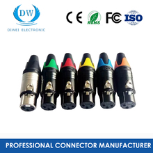 Xlr connector 4 핀 male 암 plastic connector 대 한 산업 커넥터