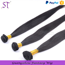 Best Quality Cheap Human Hair Extension, Black Straight Long 100% Brazilian Hair Weft