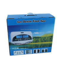 detox foot spa with big lcd with double far infrared waistbelts functions