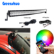 App Bluetooth control RGB 5D Color Changing Off road Car Strobe 50 inch 288W curved Led Lighting bar for ATVs SUV UTV truck For