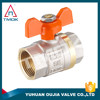 Hpb 57-3 natural color brass ball valve from 1/2'' to 1'' BSP Thread Iron handles Zhejiang factory TMOK