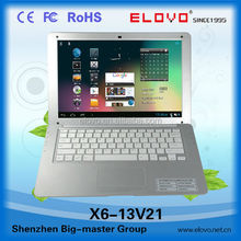 Best selling 13.3 inch OEM android rohs mini laptop ultrabook VIA8880 with hdmi wifi camera